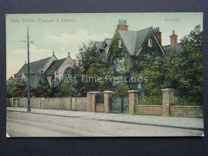 Notts SOUTHALL Holy Trinity Vicarage & Church c1908 Postcard S. Barnes & Co.