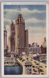 Chicago, Ill., The Tribune Tower and Michigan Avenue Bridge - 1944