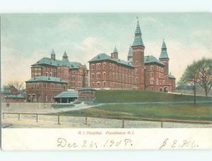 Pre-1907 HOSPITAL Providence Rhode Island RI W6333