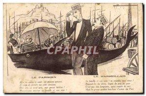 Old Postcard Le Parisien Le Marseillais