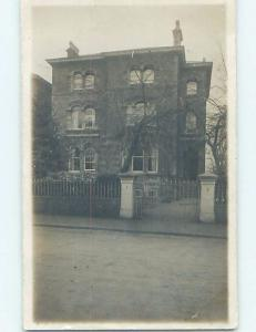 old rppc GATE BY OLD BUILDING Published In Bristol England UK HM1515