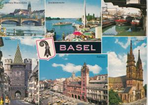 Switzerland, Suisse, BASEL, multi view, unused Postcard