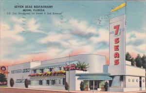 Florida Miami Seven Seas Restaurant 1948