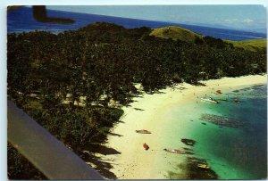 Aerial View Mana Island Resort Fiji Vintage 4x6 Postcard E16