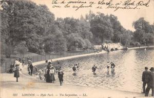 London Hyde Park The Serpentine Promenade 1908