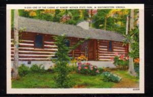Virginia Postcard Cabin Hungry Mother State Park Marion