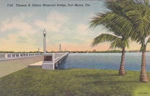 Florida Fort Myers Thomas A Edison Memorial Bridge 1941