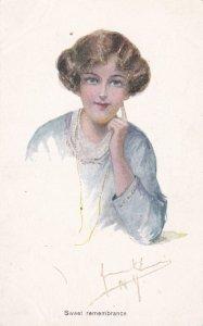 Sweet remembrance, Portrait of woman, 1900-10s