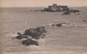 Saint Malo Le Fort National At High Water Antique French Postcard