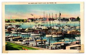 Mid-1900s Maryland Yacht Club, Baltimore, MD Postcard