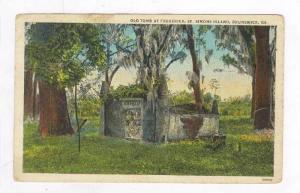 Old Tomb At Frederica,St. Simons Island,Brunswick,GA'34