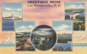 New Hampshire Greetings From Lake Winnipesaukee