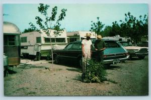 Postcard AZ Tucson Romero Trailer Estates Camping Camp Ground Vintage Q13