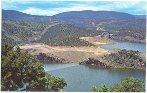 Flaming Gorge Resevoir & Cart Creek Bridge Wyoming WY Bridge