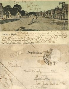 czech, MILOVIC MILOWITZ, Street Scene (1899) Postcard