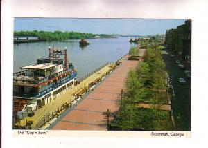 The Cap'n Sam Cruises Paddlewheeler at Dock, Savannah, Georgia, Photo Bob Gla...