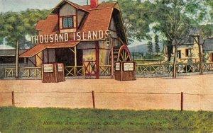 Chicago Illinois~Riverview Amusement Park~Thousand Islands Mill~Adults 10c~1908