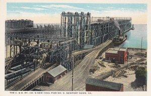 C.& O. Ry 's New Coal Pier No.9 , NEWPORT NEWS , Virginia , 10s-20s