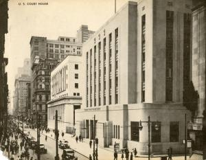 PA - Philadelphia. US Courthouse, Chestnut Street. JUMBO Postcard (9 X 7).