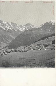Switzerland early alpine landscape mountain peaks early card