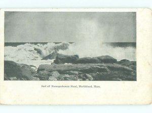 Pre-1907 SHORELINE SCENE Marblehead Massachusetts MA AD8613