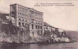 Oceanographic Museum, Musee Oceanographique, Facade, Cote de la Mer, Monaco-V...