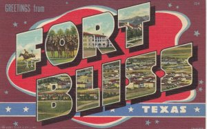 Large Letter FORT BLISS , Texas , 30-40s