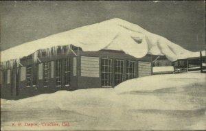 Truckee CA SP RR Train Depot Station c1910 Postcard