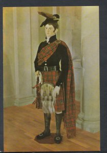 Fashion Postcard-Museum of Costume - Highland Dress of Royal Stuart Tartan T8352