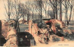 Netherlands Sluis Ruine Ruins Postcard