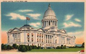 Little Rock, Arkansas, AR, State Capitol, Linen Vintage Postcard g8397