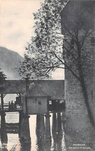 Switzerland Old Vintage Antique Post Card The Castle of Chillon Unused