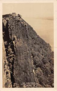 Alpine New Jersey The Lookout on the Palisades Real Photo Postcard JB626751