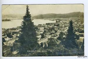 Marshfield OR Birdseye View 1918 RPPC Postcard
