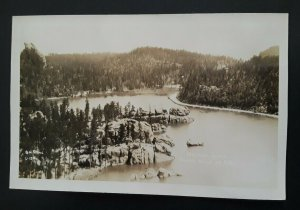 Mint Vintage Sylvan Lake Black Hills South Dakota Real Photo Postcard