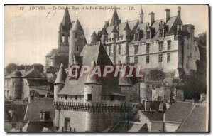 Old Postcard Loches The Royal Castle and Porte des Cordeliers