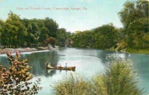 Cambridge Pennsylvania~Folk in Canoe on French Creek 1910