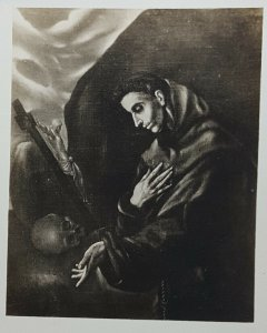 El Greco Saint Francis Brother Leo Art Vintage Postcard