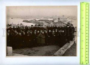 230132 UKRAINE ODESSA port view old big photo