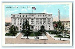 Municipal Building Washington, D.C. Old Car Vintage Postcard