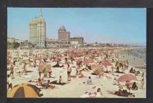 Beach Scene,Long Beach,CA Postcard