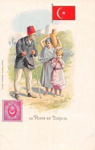 La Poste en Turquie, Turkey, Turkish, Postmen Chromo Postcard