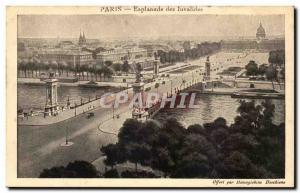 Paris Old Postcard Esplanade des Invalides