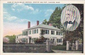 Home Of Ralph Waldo Emerson Essayist And Poet Concord Massachusetts