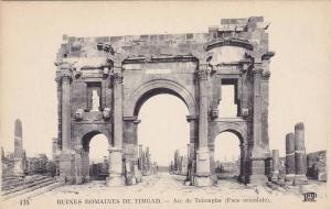 Arc De Triomphe, Ruines Romaines De Timgad, Algeria, Africa, 1900-1910s