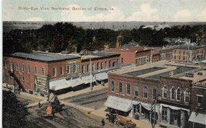 Bird's-Eye View ELDORA, IA Street Scene Iowa 1908 Vintage Postcard