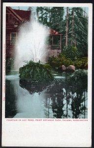 Washington TACOMA Fountain in Lily Pond, Point Defiance Park - Und/B