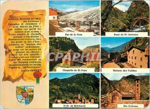 Postcard Modern Valls of Andorra