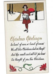 Christmas Greetings In the Land of Snow National Art Publishing Co