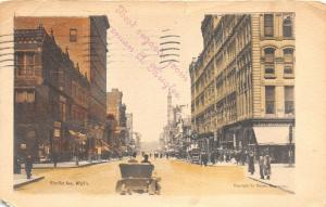 Minneapolis Minnesota 1907 Postcard Nicollet Avenue Cars Stores